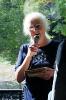 Mallusjoella Terriniemen kartanon emäntä Elina Laine kertoi kartanon historiasta